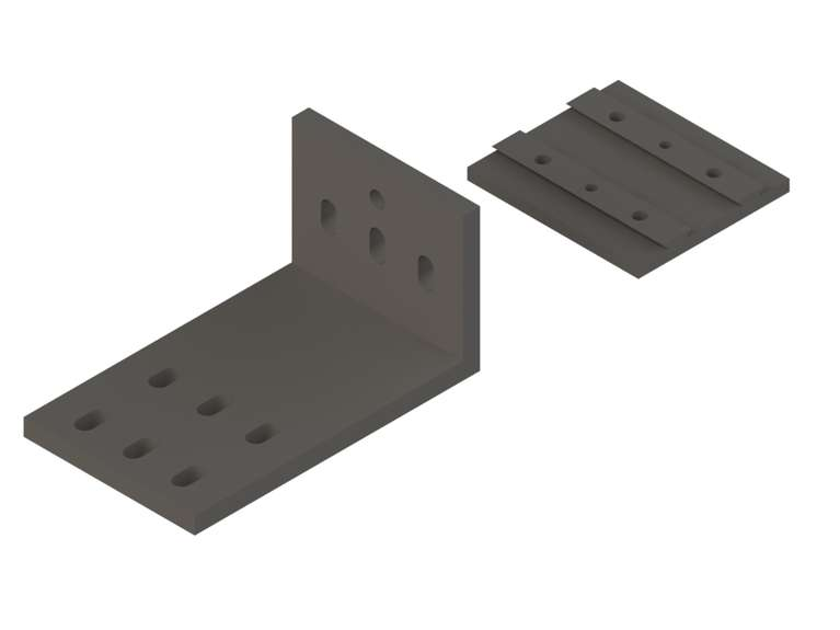linea m mounting plate 90-100 SET